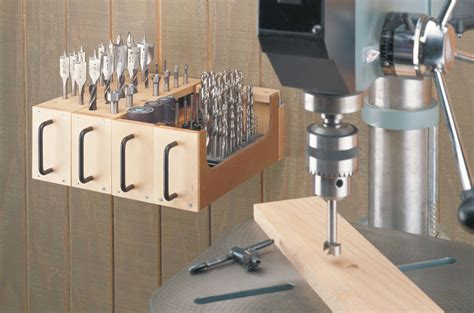 drill bit storage woodworking project woodsmith plans
