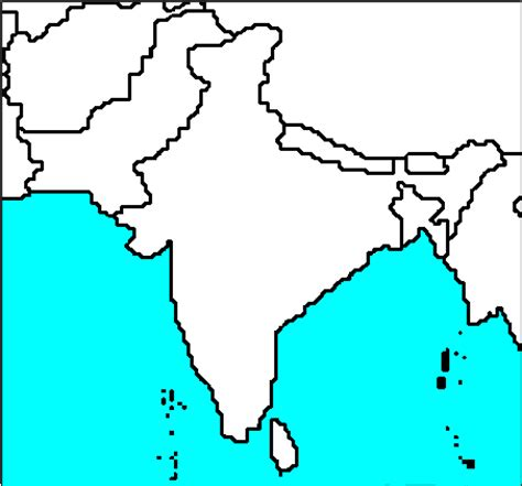 blank map of southern asia blank south asia maps picture map pictures