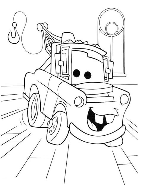 dibujos para pintar cars dibujo mate cars para colorear