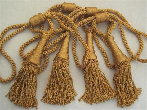 gold curtain tassel tiebacks vintage curtain tie backs antique gold bullion fringe