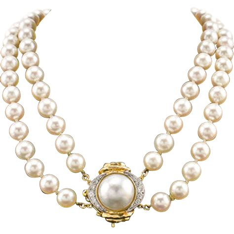 Pearl Necklace 14k Akoya Pearl Necklace Strand Cultured