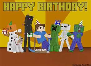 image minecraft birthday card picture by bombcrop