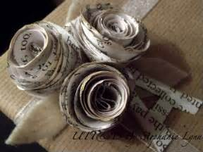 How To Make A Flower Out Of Wrapping Paper - pretty things using books and maps dustyprettythings