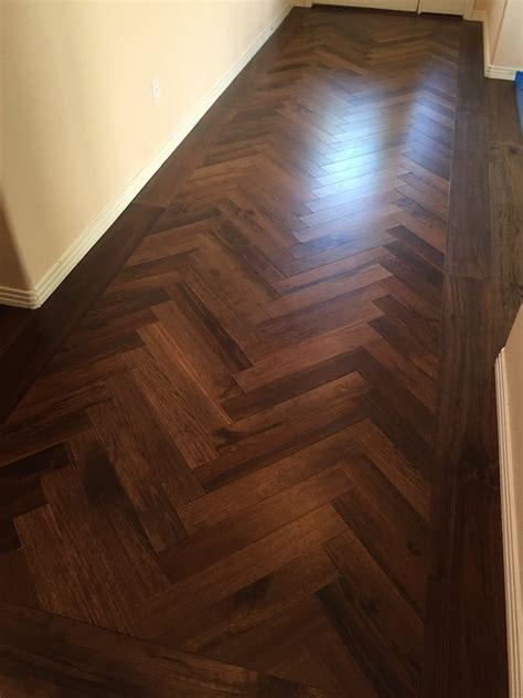 we fabricated this herringbone floor from customer s wood