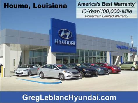 Greg Leblanc Hyundai by Greg Leblanc Hyundai Houma And Area Hyundai Dealer Autos