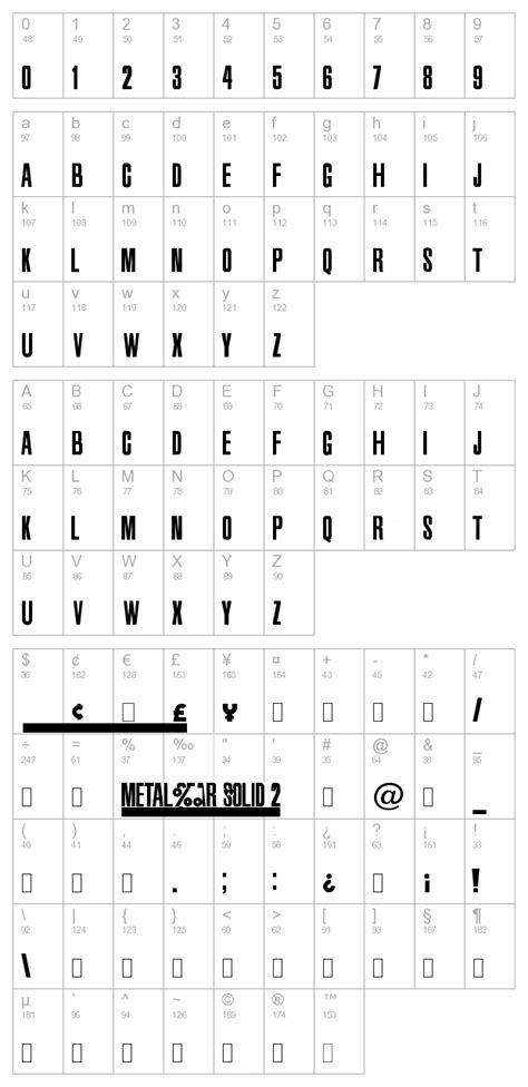 Metal Gear Solid 2 font download :: best ttf fonts for free