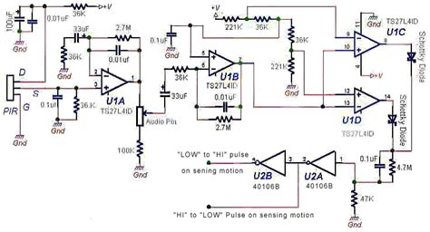 pir sensor circuit diagram
