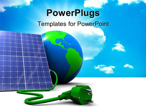 solar panel powerpoint template powerpoint template abstract 3d solar panel with earth