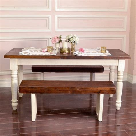 farmhouse table in antique white 68