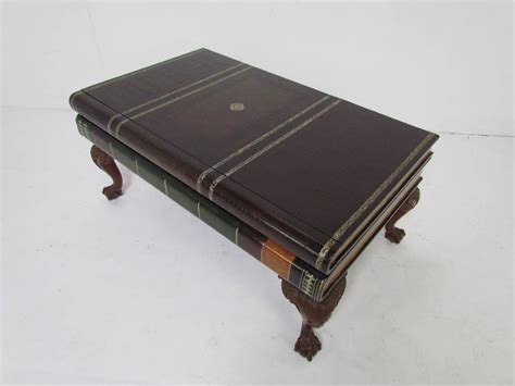 stacked books table l maitland smith stacked leather book form coffee table at