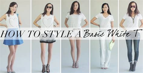 How To Style Your Wardrobe by How To Style A Basic White Tshirt Tranformation
