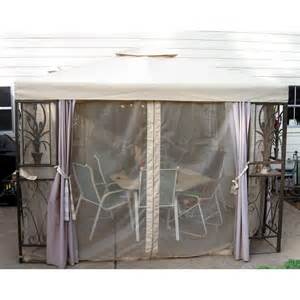 Replacement Netting For Gazebo by Home Depot Pac Casual 10x10 Replacement Canopy And Netting