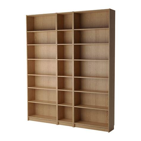 wooden bookshelves ikea billy bookcase oak ikea