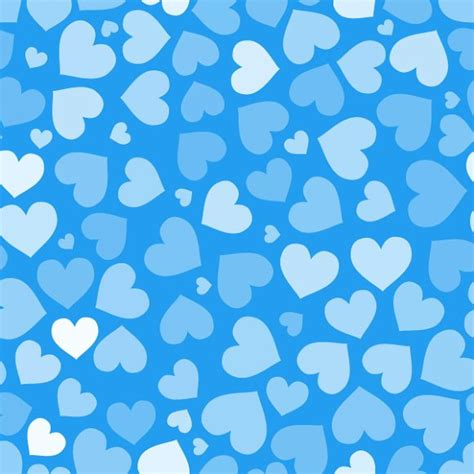 pattern blue heart hearts on blue seamless pattern patterns creative market