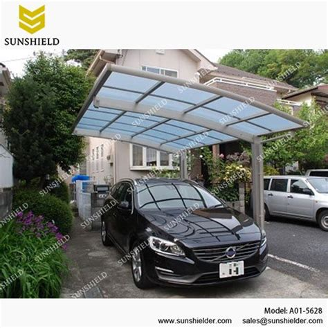 polycarbonate carport arched roof car parking shed