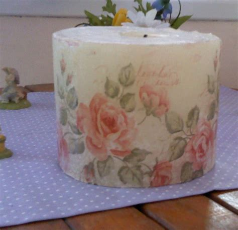 decoupage candle decoupage
