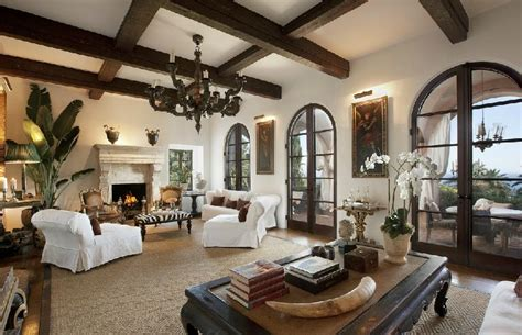 spanish interiors homes mediterranean style homes california coast mega