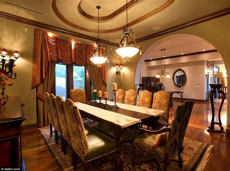 Mansion Dining Room by Nevada Mansion With Its Own Backyard Water Park Makes A