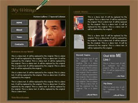 free css templates for books book author free website template free css templates