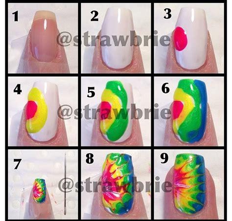 nail art tie dye tutorial tie dye nails tutorial nailed it pinterest