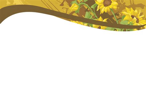 sunflower powerpoint template sunflowers design powerpoint templates brown flowers