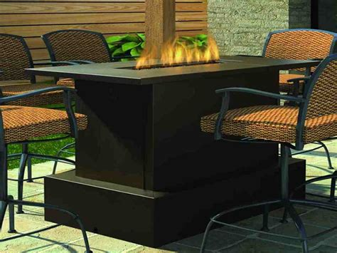 outdoor patio table set pit tables woodlanddirect outdoor fireplaces patio