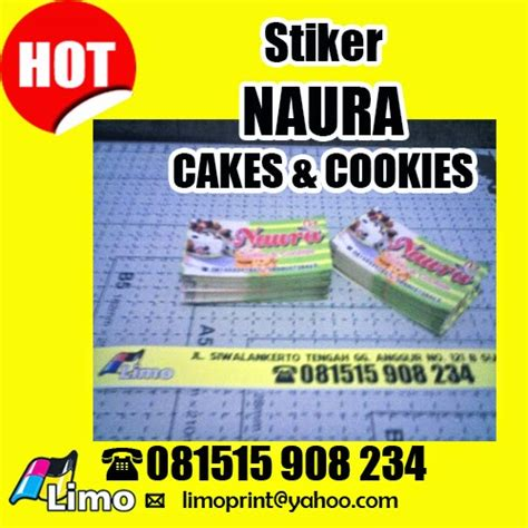 Sticker Rabbit Stiker Tempelan Post It Kue Cake Packing Box Bungkus limo print stiker keren naura cakes and cookies surabaya