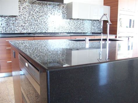 Modern Granite Countertops by Artisan Collection Modern Kitchen In Absolute Black
