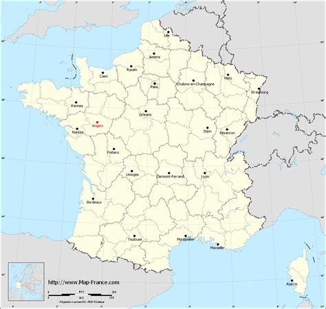 angers map road map angers maps of angers 49000 or 49100