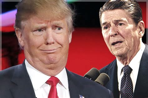 ronald reagan donald trump trump turns his back on reagan our new president