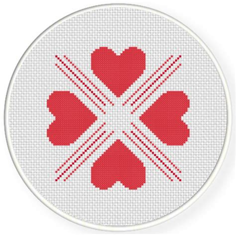 heart pattern for cross stitch four heart pattern cross stitch pattern daily cross stitch