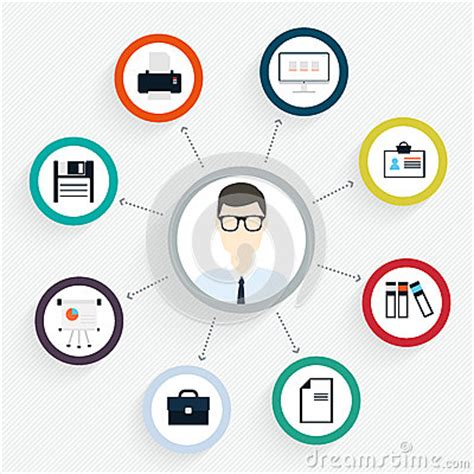 vector flat customer experience concepts vector flat customer office concept icons and infographic stock vector image 50038476