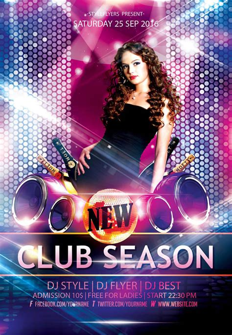 New Party Season Free Psd Flyer Templates Graphicsfuel Free Nightclub Flyer Templates