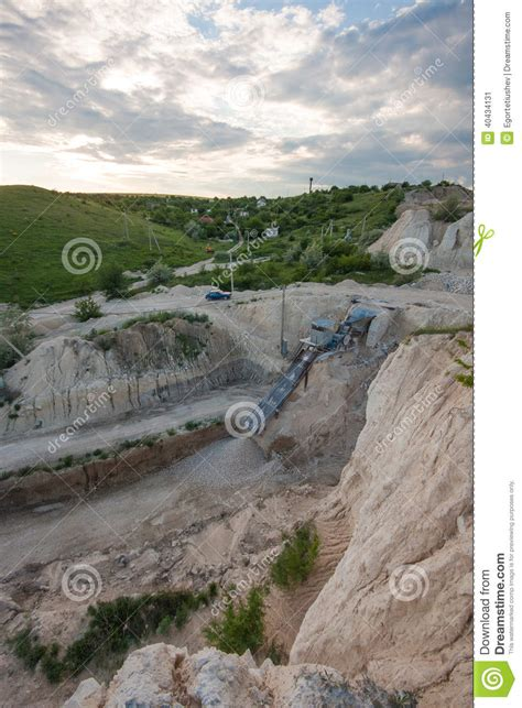 Landscape Rock Quarries Limestone Gravel Extraction Stock Photo Image 40434131