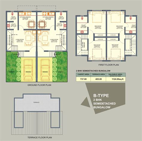 floor plan bungalow type free home plans semi detached floor plans