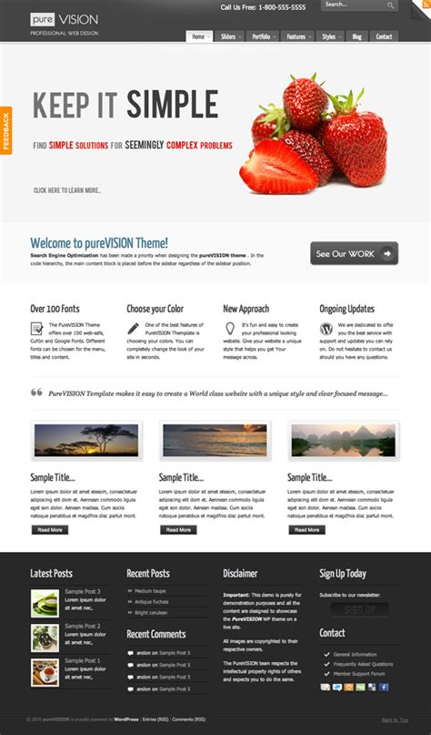 themeforest reviews purevision premium wordpress theme review themeforest net