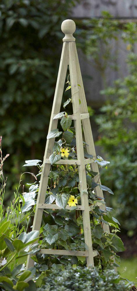 smart garden sage wooden obelisk  high natural wood