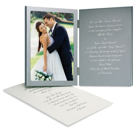 engraved wedding invitation engraved wedding invitation photo frame wedding invitation frame