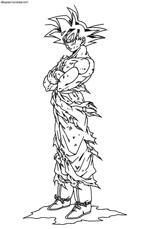imagenes de goku a color para imprimir dibujos de goku dragonball z para colorear