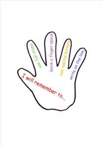 outline hand print clipart best