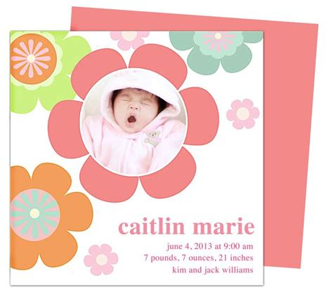 word templates for birth announcements the 12 best images about baby birth announcement templates