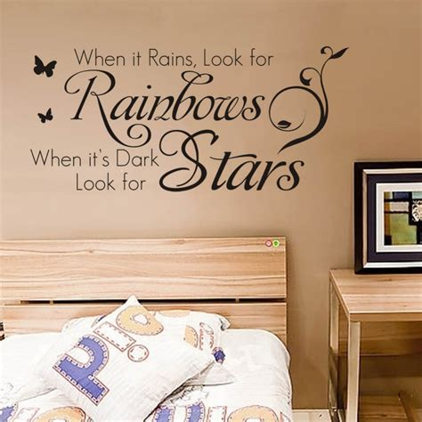 inspirational stickers for walls online get cheap raining quotes aliexpress com alibaba
