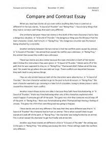 Compare And Contrast Essay Exles Middle School by Exle Of An Introduction Of A Comparative Essay