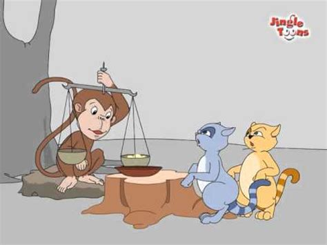 Cat Story quot monkey two cats quot story in animation द न झगड