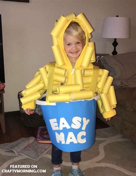 toilet paper roll easy mac costume clever halloween