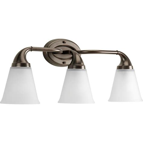 Progress Lighting Lahara Collection 3 Light Venetian Venetian Bronze Bathroom Lighting