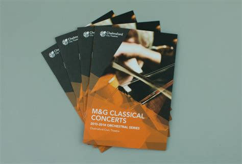 leaflet design chelmsford brochure design m g chelmsford classical concert inscribe