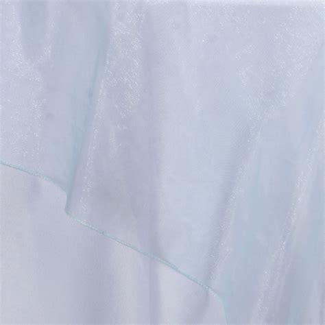 light blue organza light blue organza overlay 90x90 quot efavormart