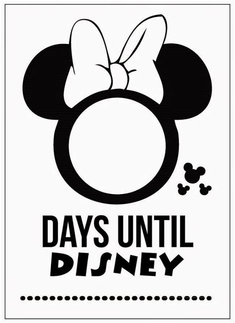 countdown to disney printable calendar template 2016