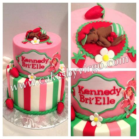 Strawberry Baby Shower Cake by Pin By Betty Black Baking On Baby Shower Cake Ideas